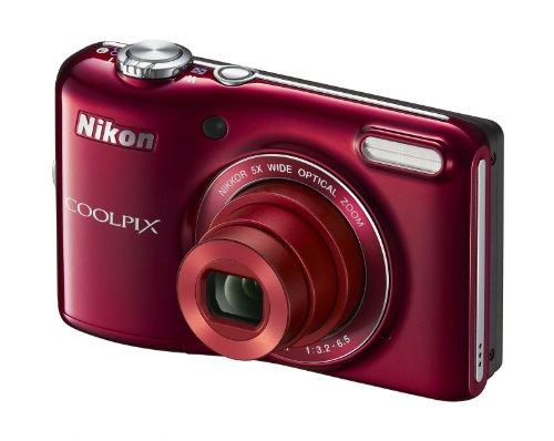 "Nikon COOLPIX L28 20.1 MP Digital Camera with 5x Zoom Lens and 3 "" LCD (R"