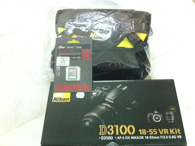 Nikon D3100 + 18-55mm VR Kit Lens + 8GB + bag Msia warranty