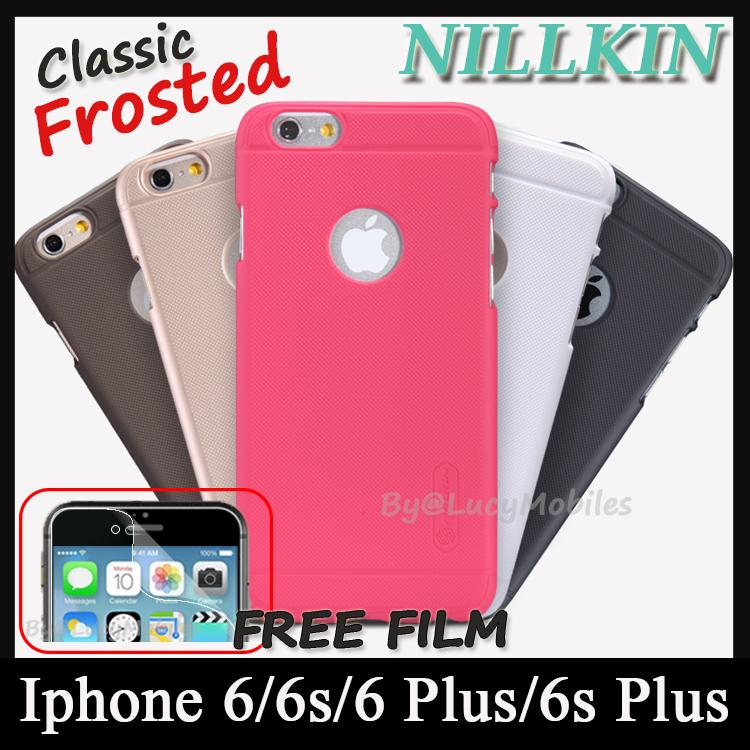 43c1fe30902eb NILLKIN Apple iPhone 6s 6 Plus Frosted Shield Case Case Cover FREEfilm