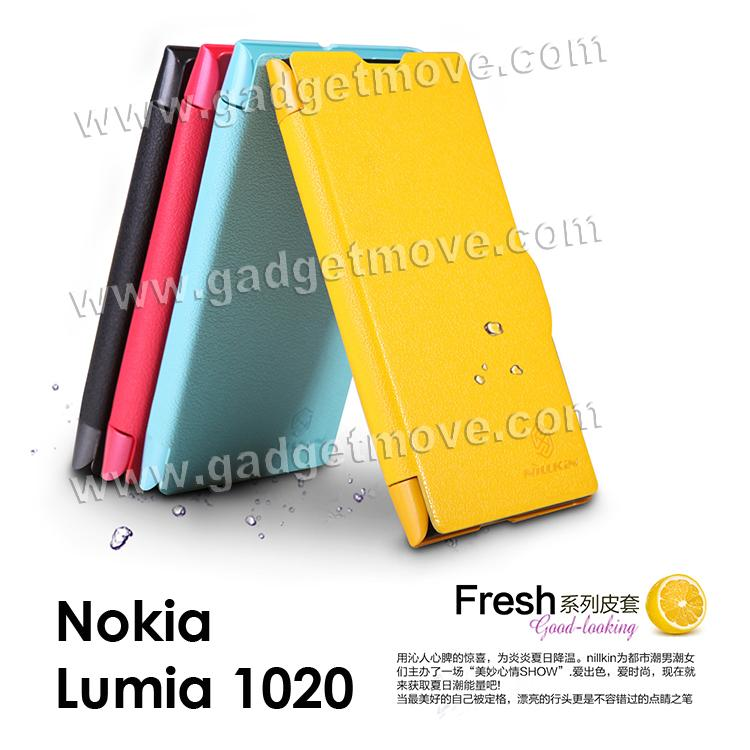 sports shoes 01f6f c8b4f Nillkin Brand New Fresh Nokia Lumia 1020 PU Leather Case Flip Cover