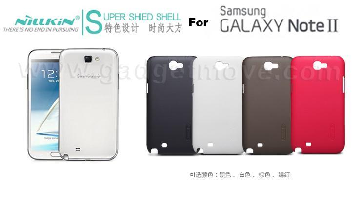 super popular df7c5 ffb52 Nillkin Hard Case Samsung Galaxy Note 2 II TPU Back Cover SGP Shell Ca