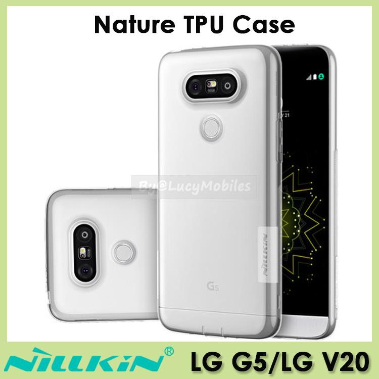 big sale 3416a d3312 NILLKIN LG V30 V20 G6 Nature TPU Case Casing Cover (White transparent)