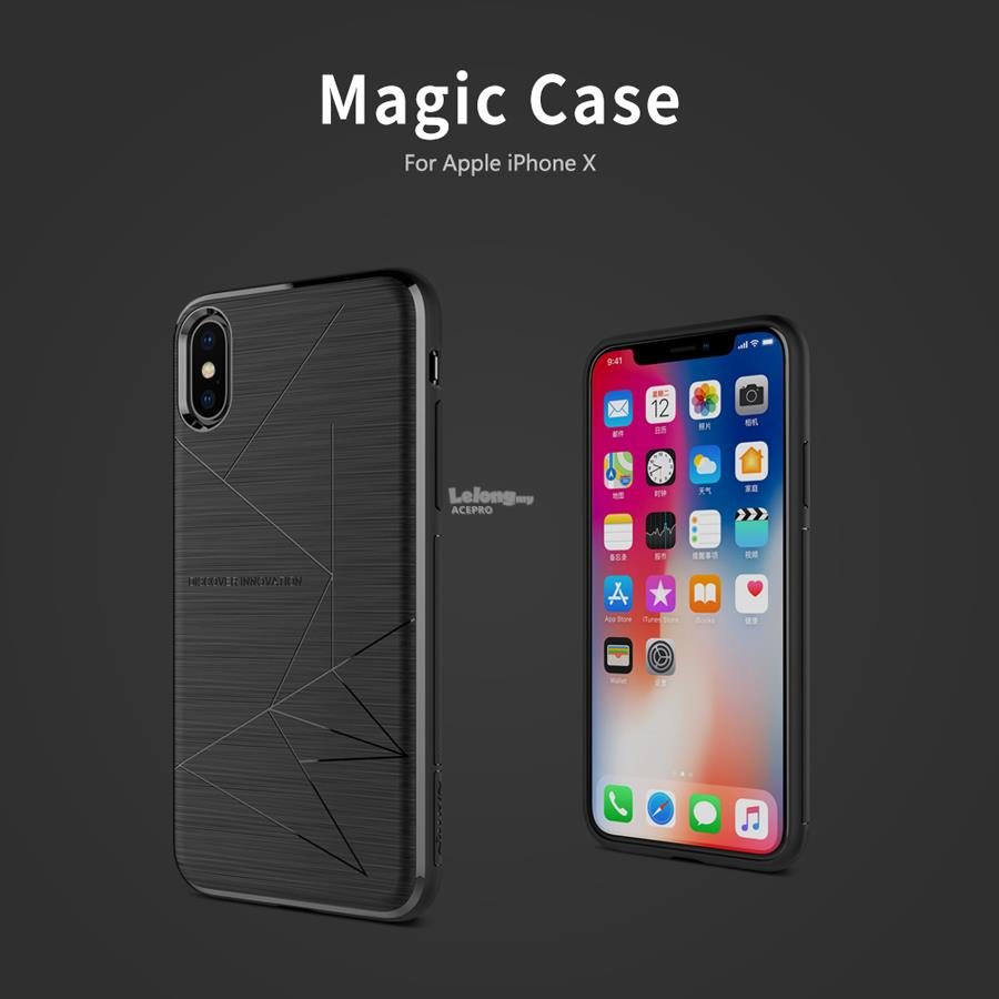 timeless design 8e508 ca6f7 Nillkin Magic Case Back Magnetic Cover Apple iPhone X 8 Plus