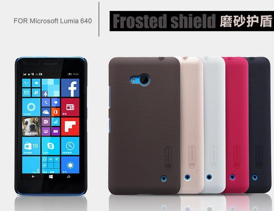 buy online e53a5 a07c7 Nillkin Microsoft Nokia Lumia 640 / XL Back Case Cover Casing +Free SP
