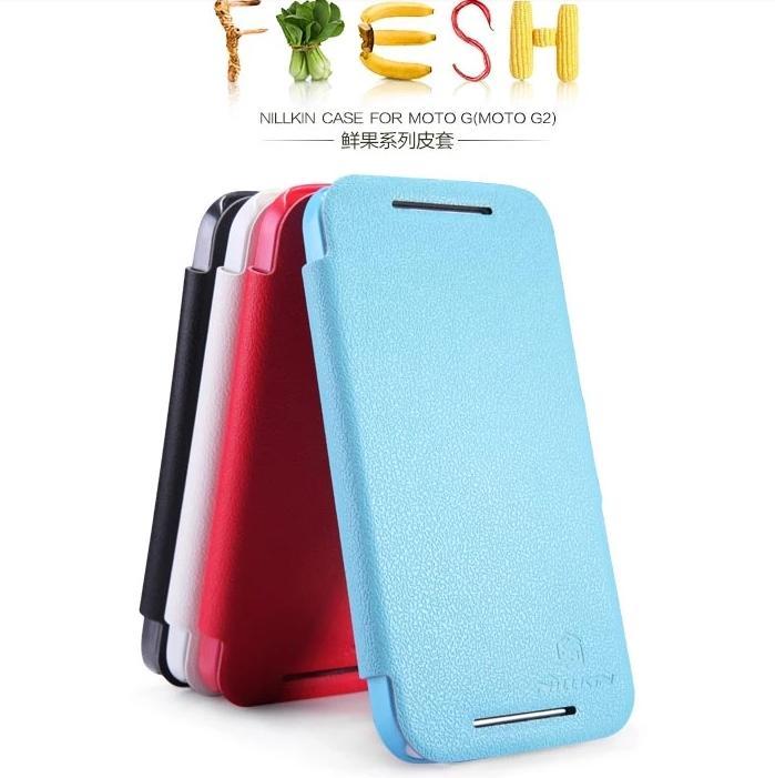size 40 29f93 c5b06 Nillkin Motorola Moto G2 G 2nd Freash Series Flip Case Cover