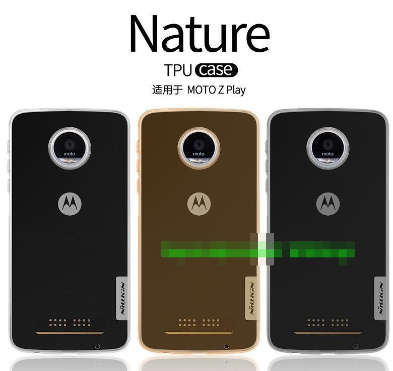half off cc476 abe9d Nillkin Motorola Moto Z Play Nature Silicone TPU Case Cover Casing