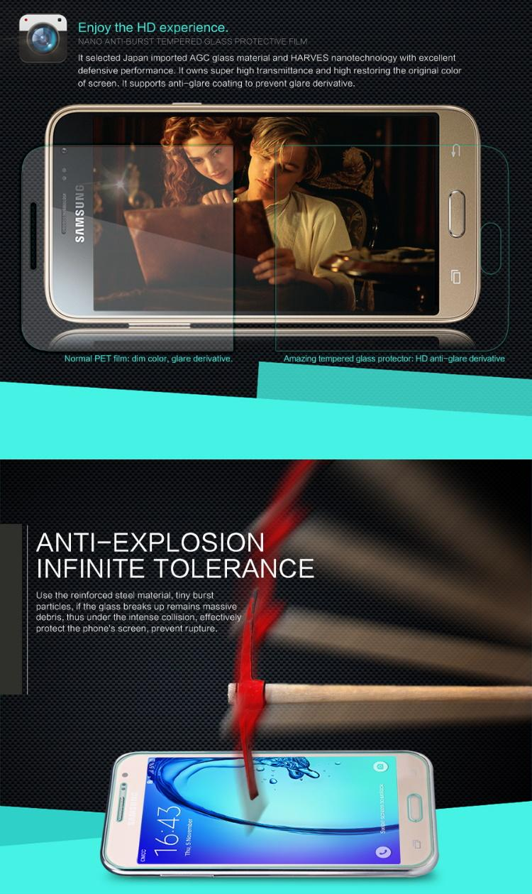 Nillkin Nano Anti-Burst Tempered Glass Screen Protector Sony Xperia C4