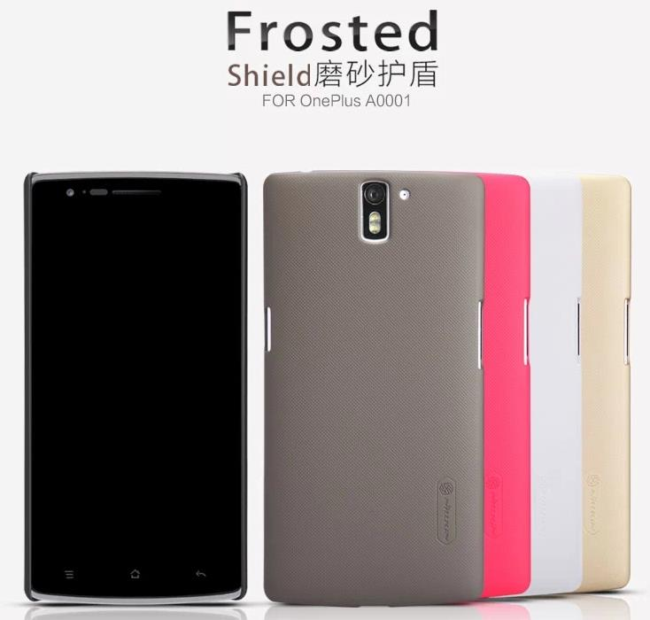 Nillkin OnePlus One Plus One Frosted Shield Back Case + Free SP