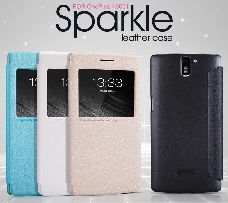 new arrival 7a4fb 64b8d Nillkin OnePlus One Plus One Sparkle Series Flip Case Cover