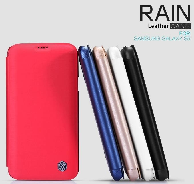 Nillkin Samsung Galaxy S5 Note 4 RAIN Series Flip Case +Free SP