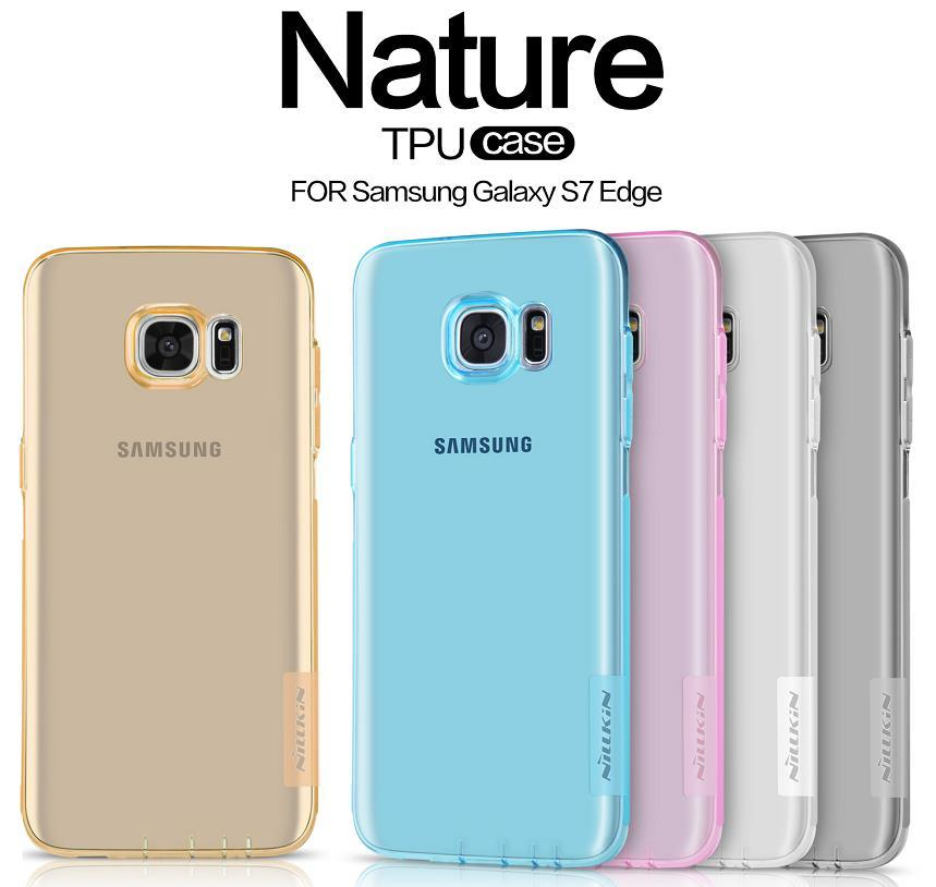 the best attitude 60d2c 82003 Nillkin Samsung Galaxy S7 Edge Ultra Thin TPU Case Cover Casing + Gift