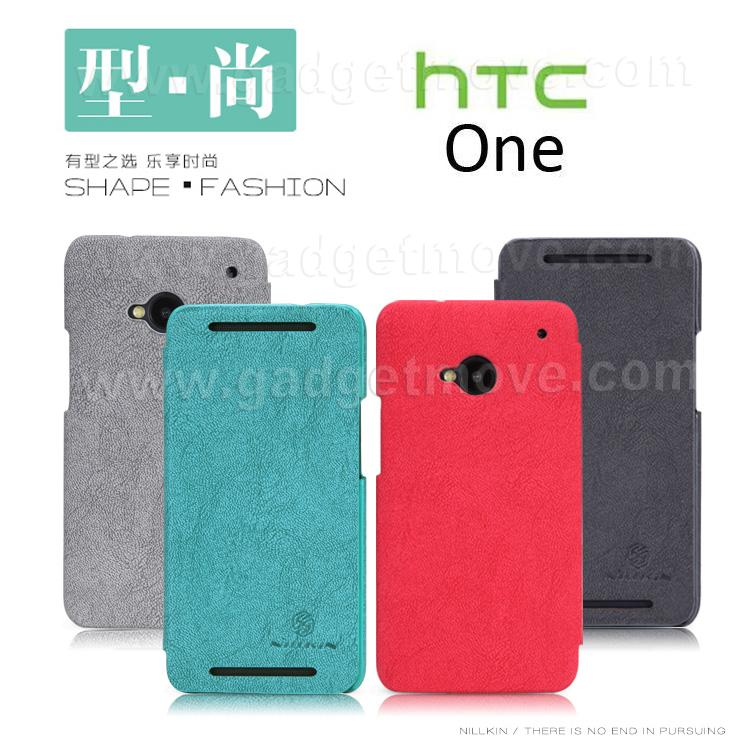 new product e8317 07816 Nillkin Shape Fashion HTC One M7 Flip Cover Leather Case Pouch Bag