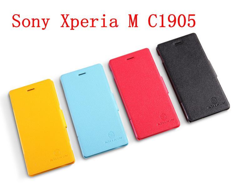 finest selection 06f83 7e2ad Nillkin Sony Xperia M C1905 Fresh Series Flip Cover Case