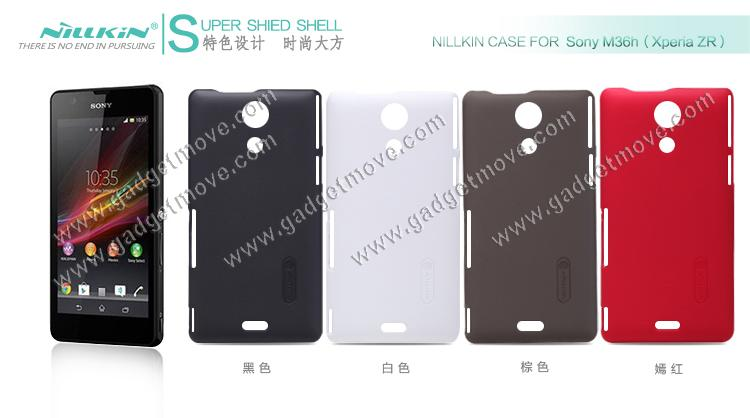 best website 7fc08 7ac86 NillKin Sony Xperia ZR M36h Back Cover Case TPU Hard Matte Case Shell