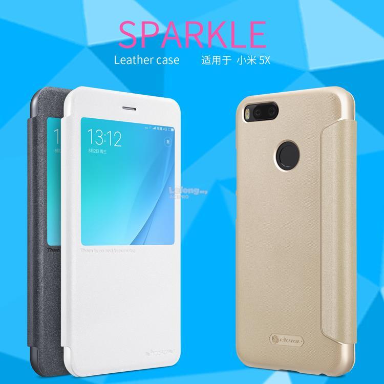 low priced 8fac6 eb5a2 Nillkin Sparkle Flip Cover Case Xiaomi Mi 5X A1 NOTE 3