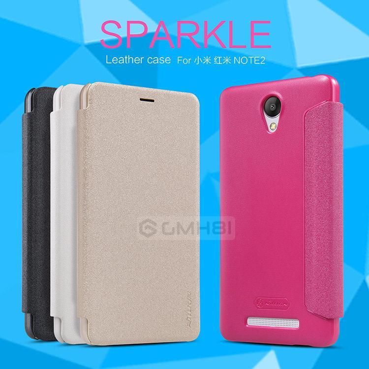 new arrival 51355 4ab7a Nillkin SPARKLE Flip Cover Case Xiaomi Redmi 3 Note 2 3 Pro M4s Mi 4s