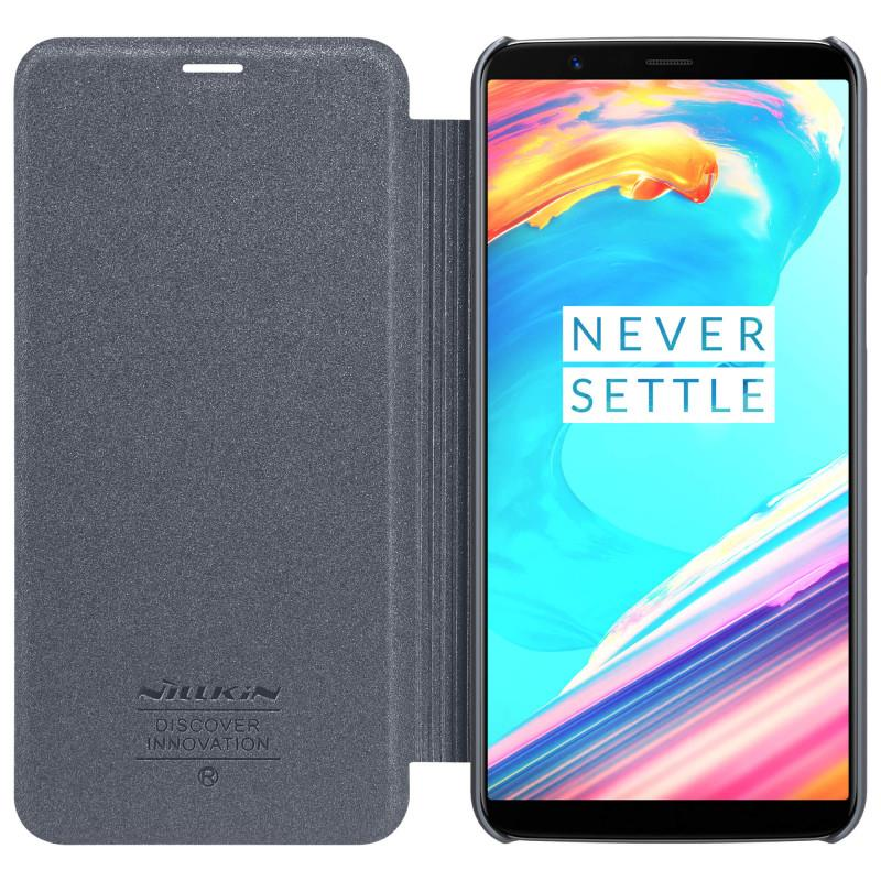 Nillkin Sparkle Series Leather Case for OnePlus 5T