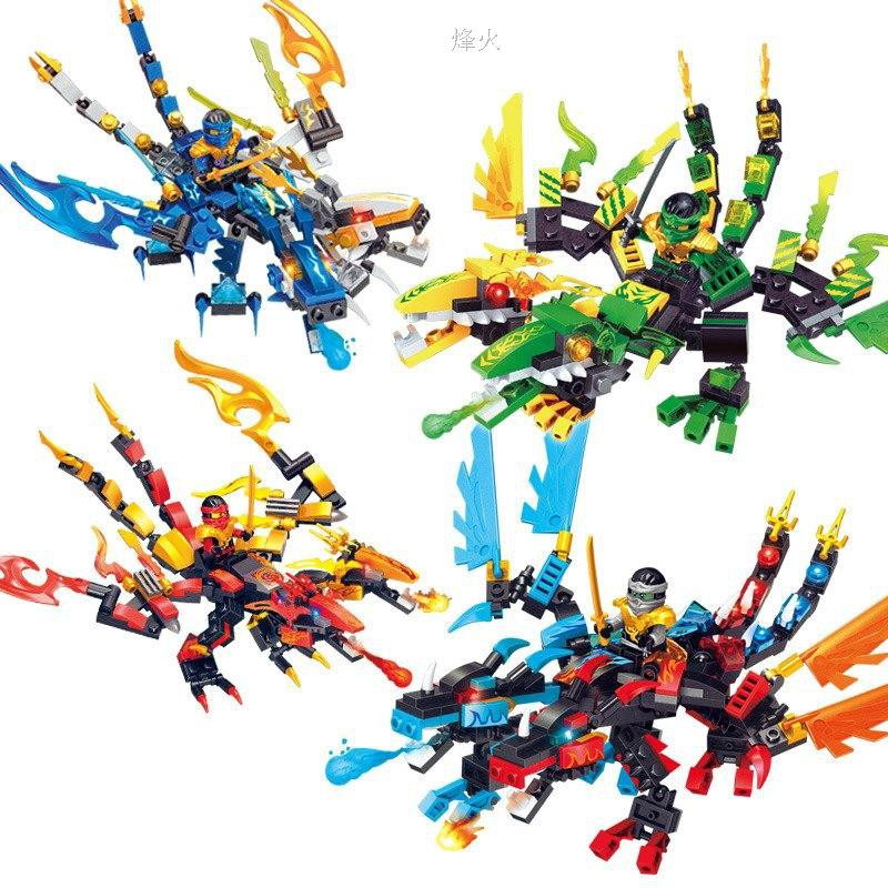 Ninja Dragon Figures Building Blocks compatible Lego Bricks Toy For Ch