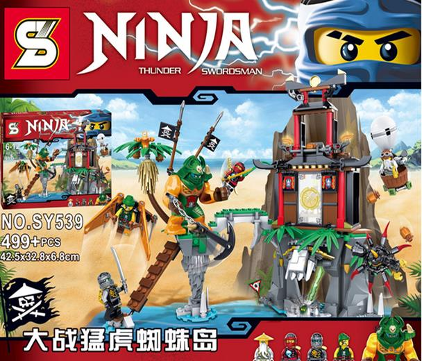 NINJA SY-539 Fight  Spider Island Building Block Puzzle Com With LEGO