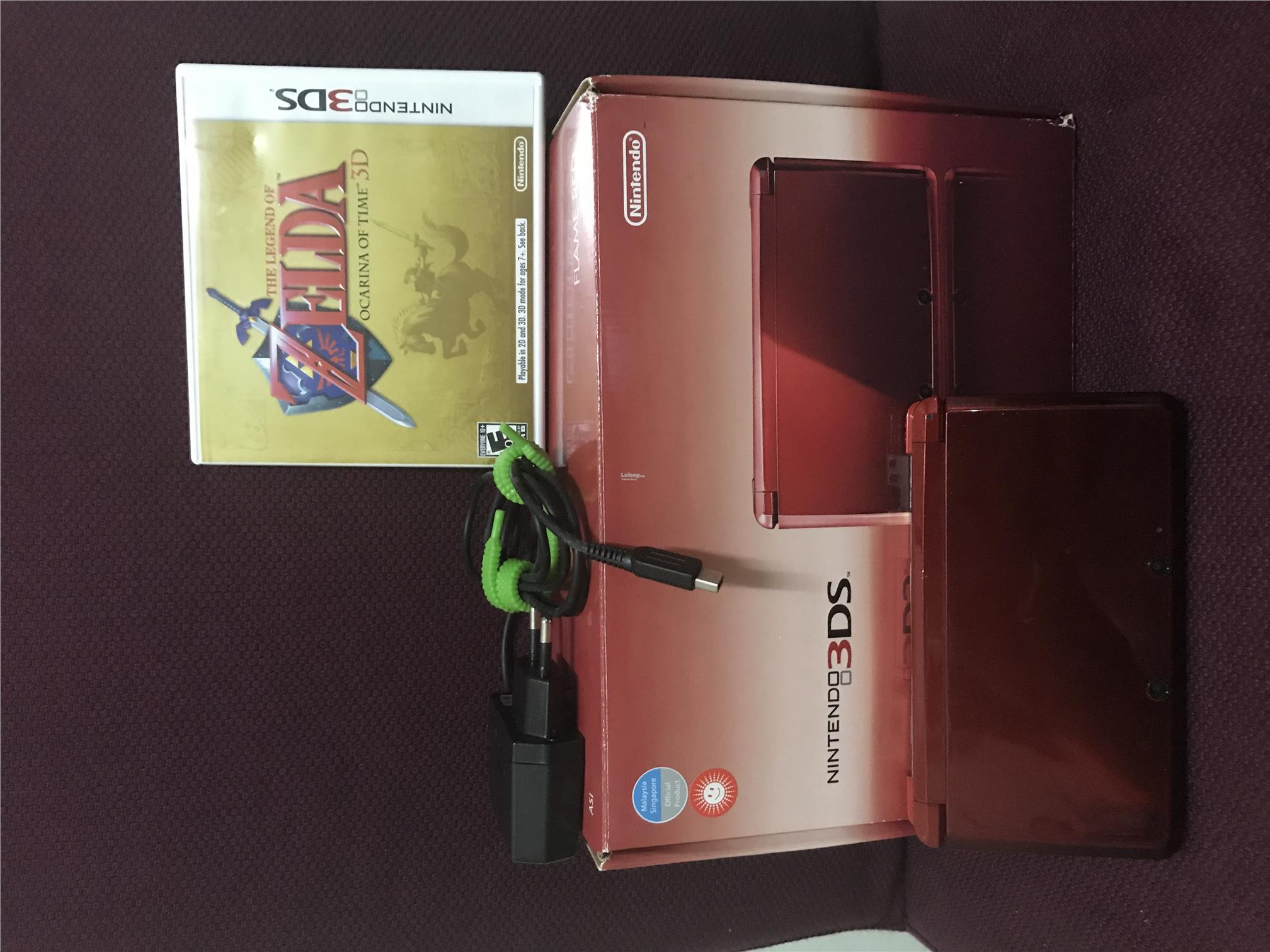 Nintendo 3DS - Flame Red Color (used)