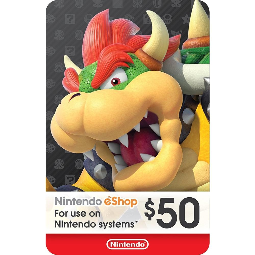 Unused 3ds points card codes - Nintendo Eshop Gift Card Usd 50 Switch Wii U 3ds Digital Code