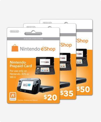 Nintendo Prepaid Card 50USD Wii U/3D (end 11/5/2015 9:45 PM)