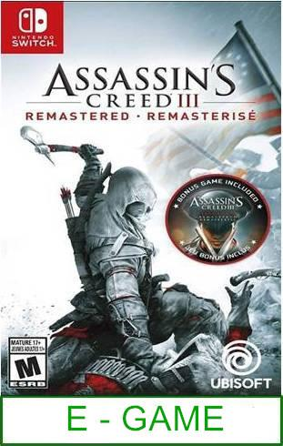 Nintendo Switch Assassin's Creed III Remastered ★Brand New & Sea..