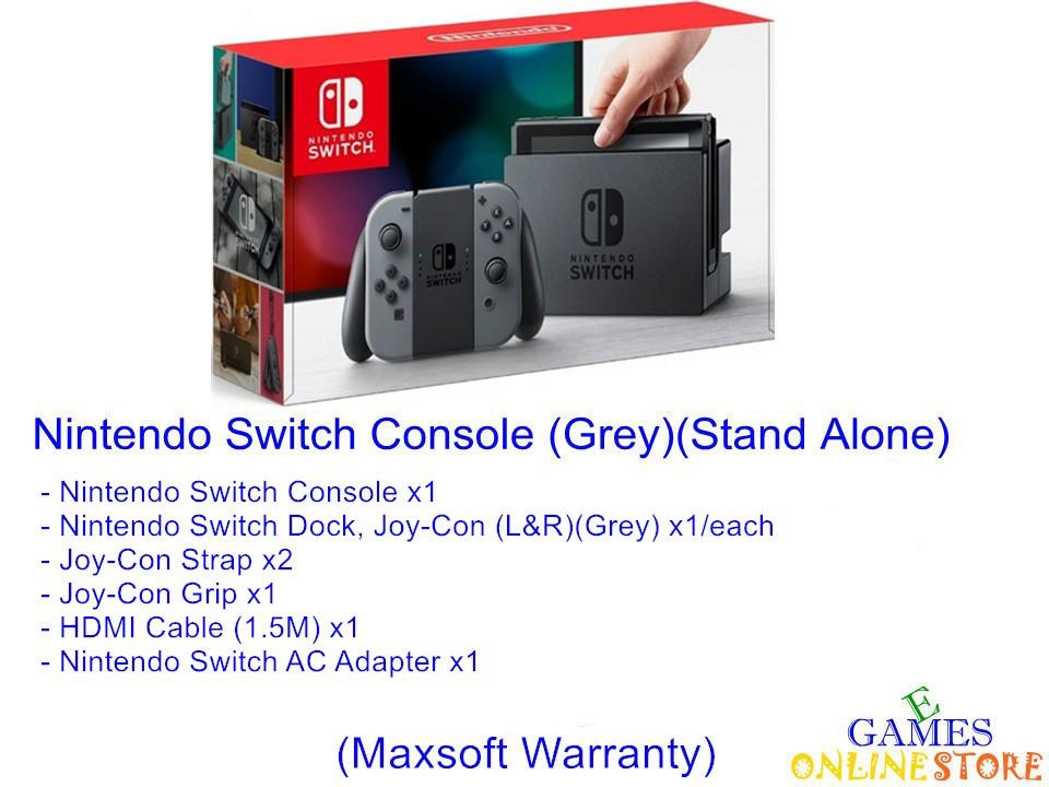 Nintendo Switch Console (Maxsoft) (Grey) ★Brand New & Sealed★