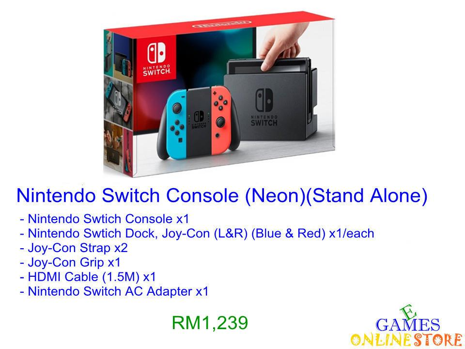 Nintendo Switch Console (Neon) ★Brand New & Sealed★
