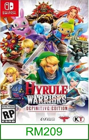 Nintendo Switch Hyrule Warriors Definitive Edition ★Brand New & Sealed