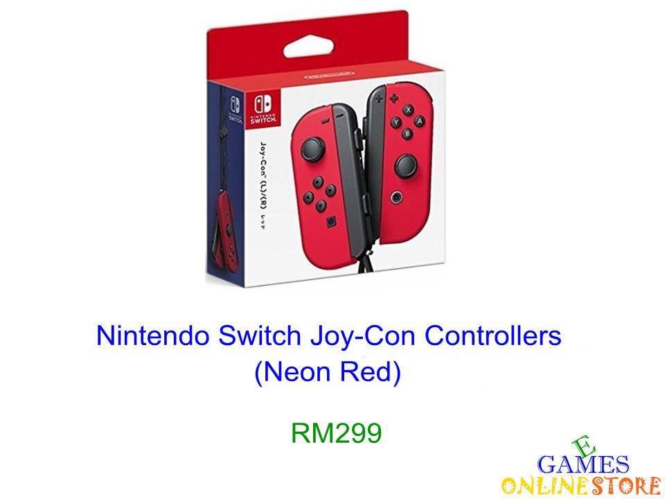Nintendo Switch Joy-Con Controllers (Neon Red) ★Brand New & Sealed&#973