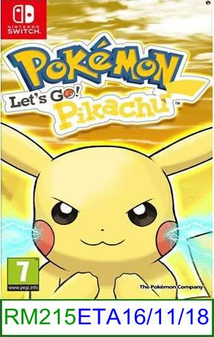 Nintendo Switch PREORDER Pokemon Let's Go Pikachu ★Brand New & S..