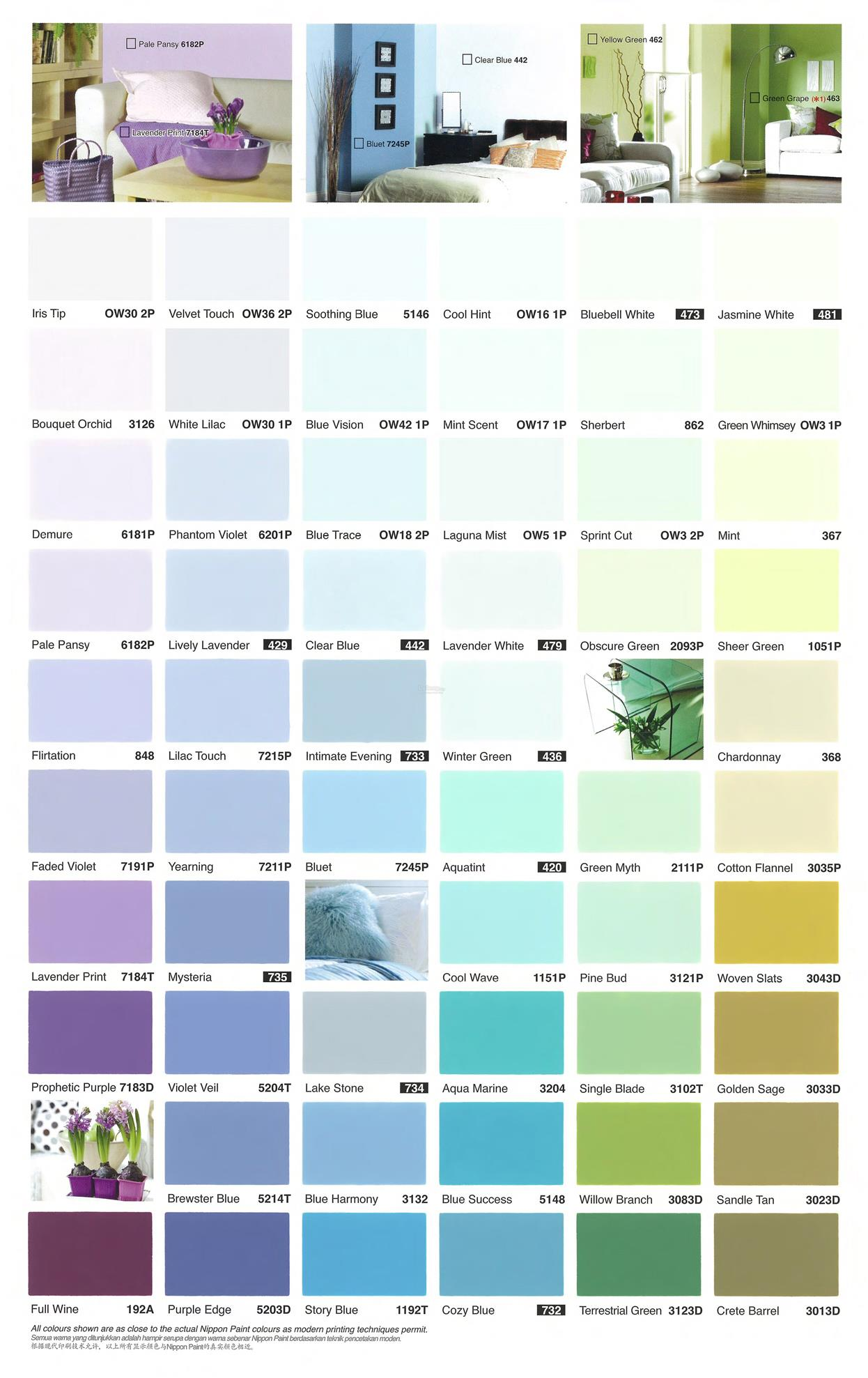Nippon Paint Q Glo 5l Interior Purple Blue Green Series