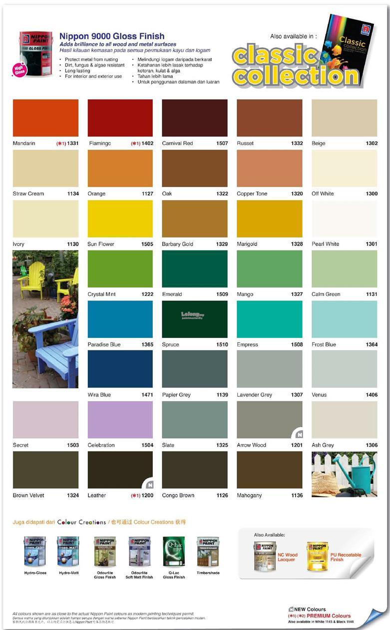 Nippon Paints Shade Card Paint Color Ideas