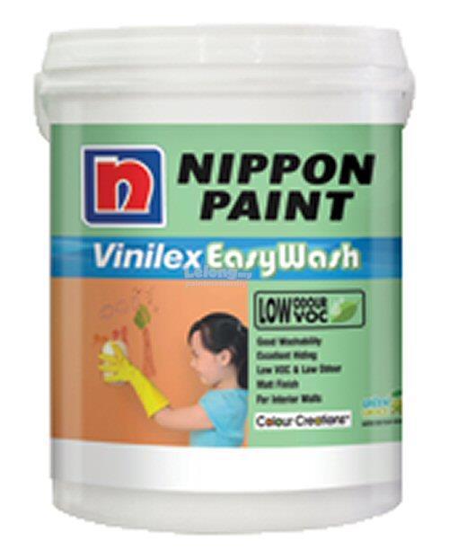 Nippon Paint Vinilex Easywash 5L Interior Classic White Series