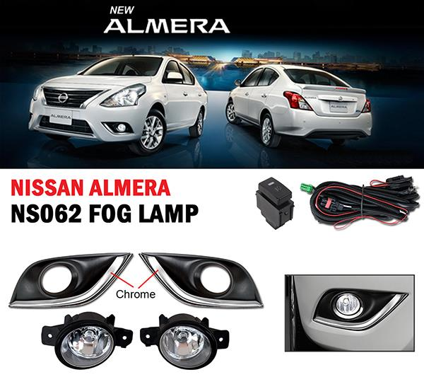 NISSAN ALMERA N17 2014-18 Plug n Play OEM Fog Lamp Sport Light w Cover