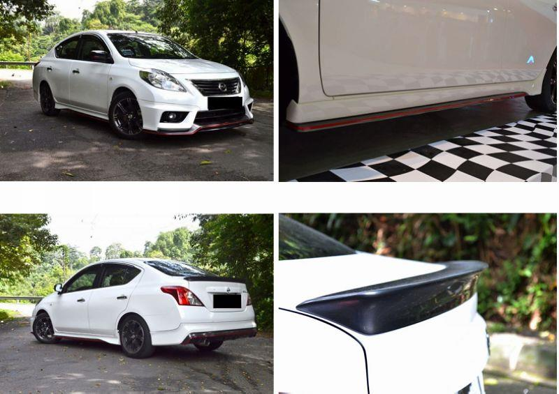 Nissan Almera Nismo Full Set Body Kit [Front+Side+Rear Skirt+Spoiler]