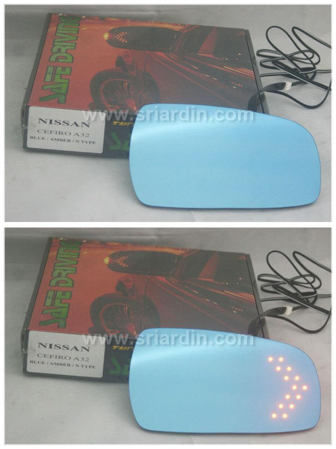 Nissan Cefiro A32 Blue Side Mirror w LED Signal