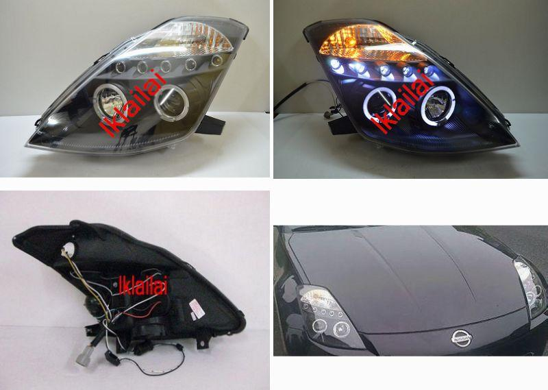 Nissan Fairlady 350Z Projector Head lamp LED Eye Brown [Chrome/Black]