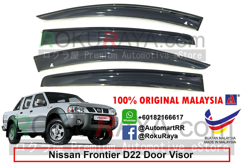 Nissan Frontier D22 (1st Gen) 1997-2004 AG Door Visor (Big 12cm. ‹ › c0f20d0dd34