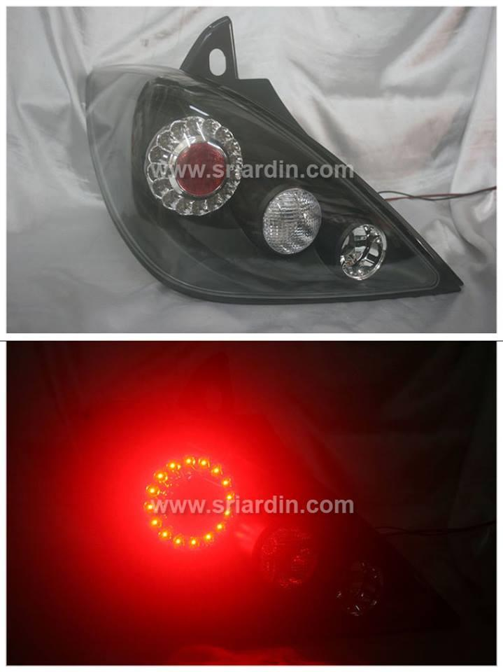 Nissan Latio 04 Hatchback Black Face LED Tail Lamp
