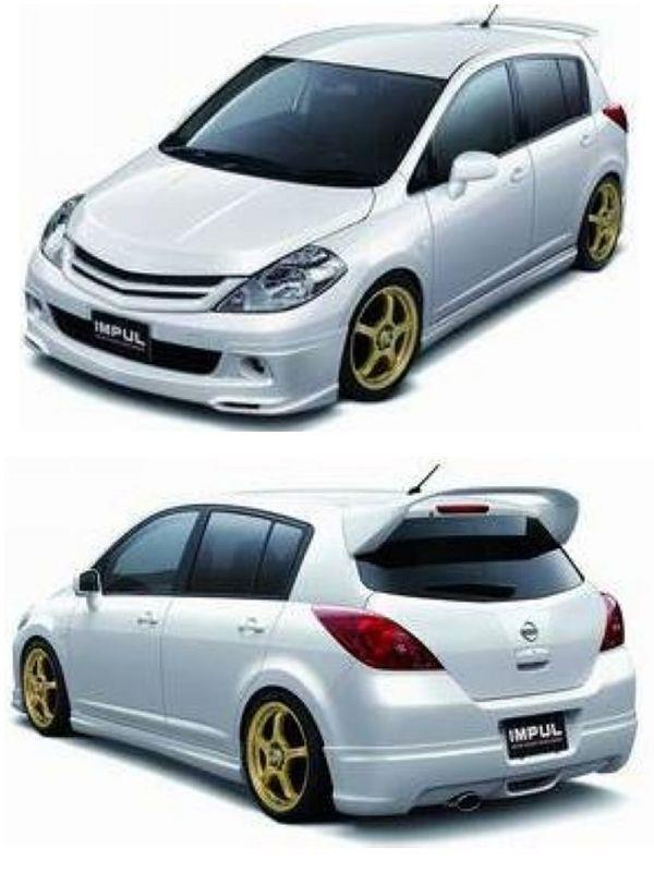 Nissan Latio '08 Impul Style Full Set Body Kit [ABS]