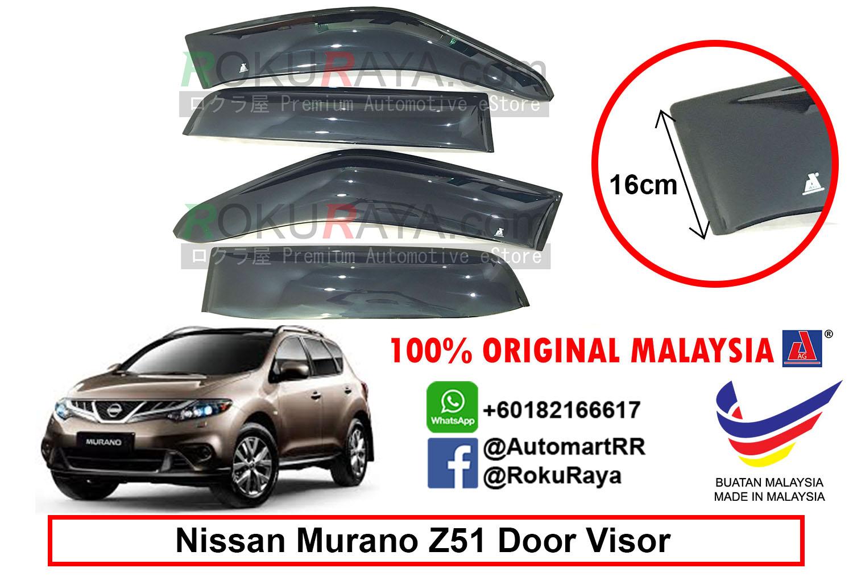 Nissan Murano Z51 2008-2014 AG Door Visor (Extra Big 12cm Width) 948fa4ae8f2