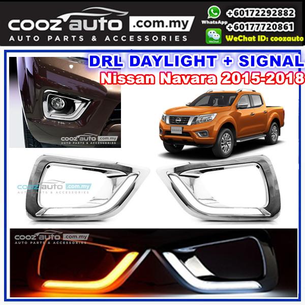 Nissan Navara 2015 - 2018 Daylight Daytime DRL + Signal + Fog Lamp Cov