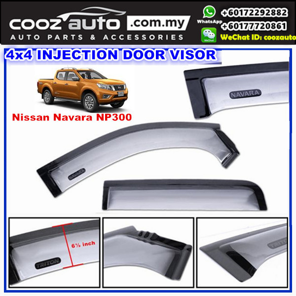 Nissan Navara NP300 2015-2017 Anti UV Acrylic Injection Door Visor ( 2