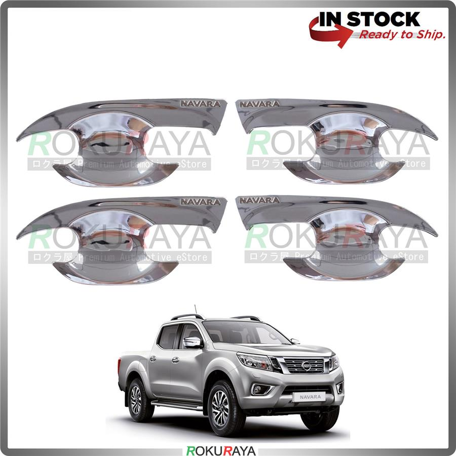 Nissan Navara NP300 Door Handle Cover Garnish Trim ABS Plastic (CHROME