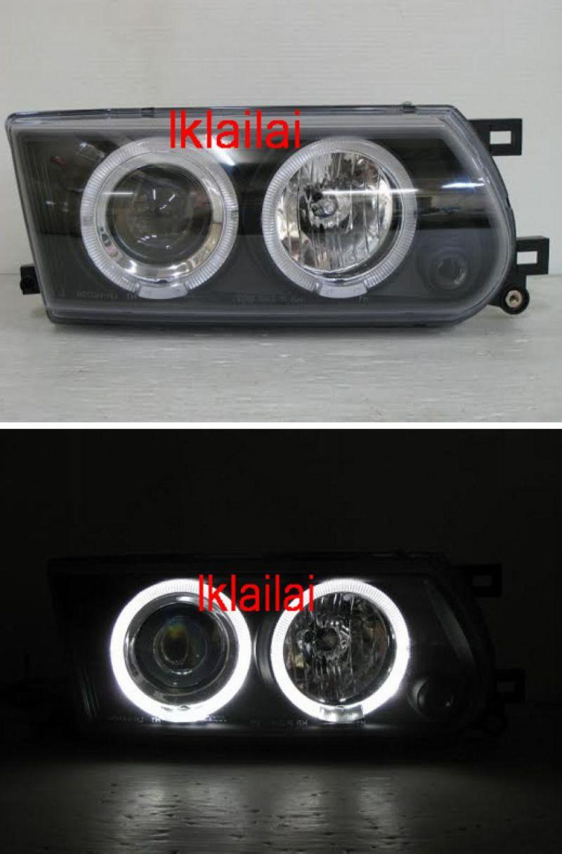 NISSAN SENTRA B13 LED Ring Projector Head lamp Black