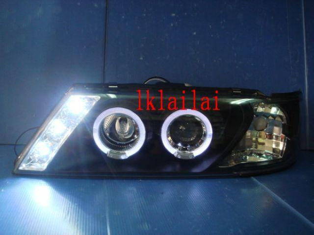 NISSAN SENTRA B14 '95-98 Crystal Projector LED Head Lamp [Black Housin
