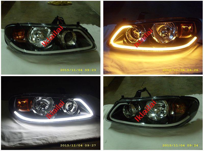 Nissan Sentra N16 '03 Projector Head Lamp Cool Starline LED DRL R8
