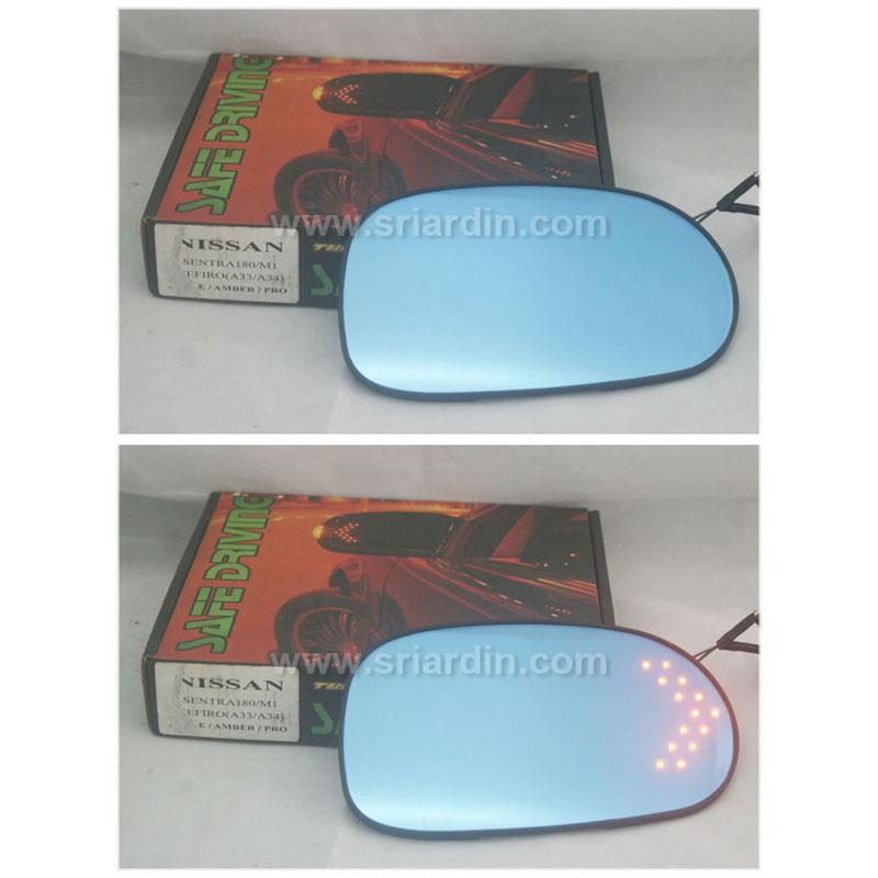 Nissan Sentra N16 Blue Side Mirror w LED Signal